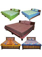 Little India Modern Print Set Of 5 Double Bedsheet...