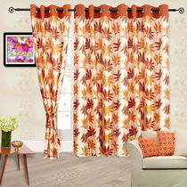 Cortina Supreme 7Ft Curtain, mustard