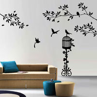 Creative Width Birds Paradise Wall Decal, multicolor, large