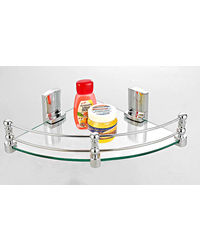 "Cipla Plast Corner Shelf (12"" X12"" ) BRC-735-B-12, multicolor"