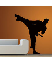 Creative Width Karate Man Wall Decal, Multicolor, Large