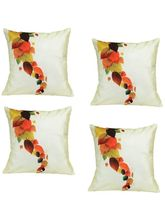Me Sleep Set Of 4, Cushion Covers Leaf Digital Print 16*16 Inch- Set Of 4