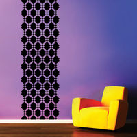 Creative Width Square Diamonds Wall Decal, multicolor