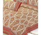Mughal Print Pure Cotton Double Sheet Set, multicolor