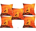 Me Sleep Cushion Covers Painted Buddha Relaxing Set Of 5 (Orange)