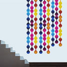 Creative Width Bubble Chain Wall Decal, multicolor