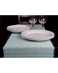 Rope Premium Talipot Table Runner - Blue, blue