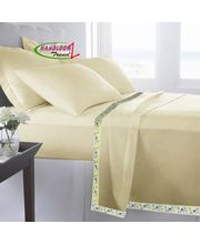 HandloomTrendz Stylish Single Bed Sheet Cum Top Sheet Set...