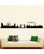 Creative Width City Of London Wall Decal, Multicolor, Small