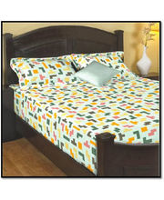 Godrej Interio Radical Neutrality Double Bedsheet - Tetris Mint,...