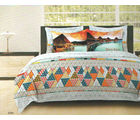 Bombay Dyeing Around The World Bed Sheet Set - AW-6264, multicolor