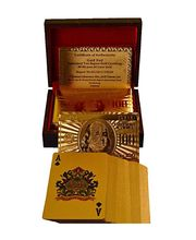24 Karat Gold Playing Cards With Exclusive Wooden Box By JEWEL FUEL, Gold