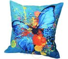 Me Sleep Coushin Covers Painted Butterfly In Colours With Cushion (Multicolor)