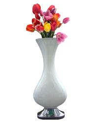 HM Steels Aluminium Flower Vase Rich Shape,  white