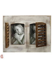 Aapno Rajasthan Windows Double Photo Frame Made With Wood