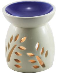 Brahmz Aroma Oil Burner Top Colour, ivory and blue