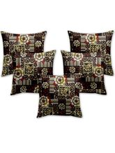 Story At Home Cushion Cover Set Of 5, Brown