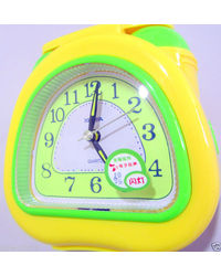 Telephone Shape Clock With Light Alarm Music For Table,  yellow