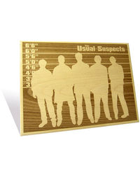 Engrave The Usual Suspects Plaque, multicolor