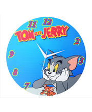 Zeeshaan Tom & Jerry Blue Wall Clock, multicolor