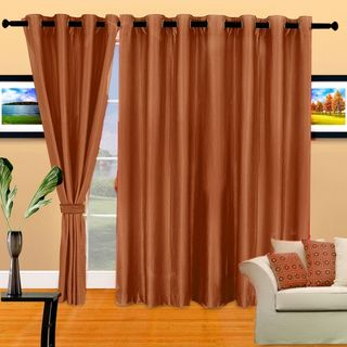 Cortina Plain Crush 9Ft Curtain, Purple