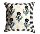 Aapno Rajasthan Cotton Cushion Cover Set with Floral Striped Print, multicolor