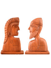 Kashmir Box Walnut Wood Farmer Couple, brown