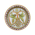 Parrots Decorative Plates - eCraftIndia, multicolor