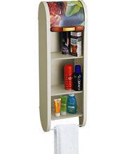 Cipla Plast Roll Top Bathroom Cabinet BRC-706-FIV, Ivory