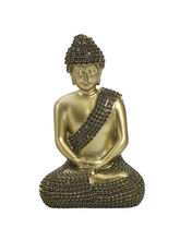 Shinny Gold Finish Buddha Idol Showpiece, Gold