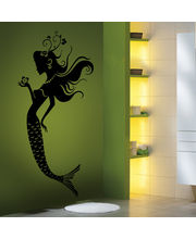 Creative Width The Mermaid Wall Decal, Multicolor, Medium
