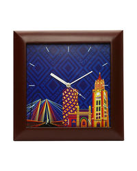 The Elephant Company Mumbai City Scape Clock, multicolor