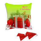 meSleep Merry Christmas Digitally Printed Cushion Cover (16x16) - With 2 Pcs,  green
