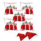 meSleep Set of 5 Quotes Christmas Digitally Printed Cushion Cover (16x16) -With 2 Pcs,  white