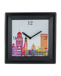 The Elephant Company Modern Cityscape Modern Wall Clock, multicolor