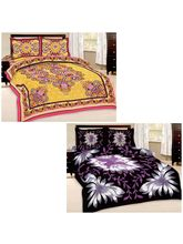 Little India Set Of 2 Stylish Double Bedsheet With...