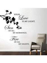 Creative Width Love Is My Light Wall Decal, Multic...