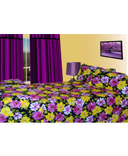Handloomwala Daisy Print Double Bed With two Pillow (Multicolor)