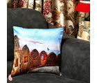 Jaigarh Fort Of Jaipur Velvet Cushion Cover (Multicolor)