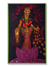 Zeeshaan Godess Of Wealth Wall Clock, multicolor