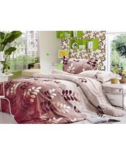 Storyathome Kings Size Classics Fallen Leaves  Double Bed Sheet, multicolor