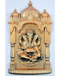 Archies Pf Ganesh Ji Mandir Wall Hanging, golden