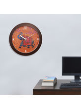 At home Royal Wall Clock, brown