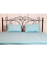 Threads and Beds 1 Double bedsheet with 2 pillow Covers,  blue