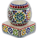 Brahmz Aroma Oil Burner Electric Oval Mossiac, multicolor