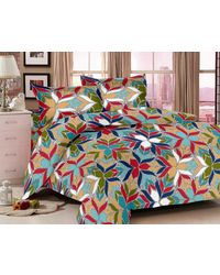 Valtellina Floral Bedsheet With 2 Pillow Cover (VB-810), multicolor