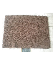 JBG Home Store Chenille Shaggy Cotton Bathmat, Brown