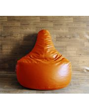 Style Homez XXL Bean Bag Gamer Chair - Filled With Beans, Orange, Xxl