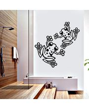 Creative Width Naughty Frogs Wall Decal, Multicolor, Large