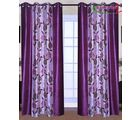 HandloomTrendz Stylish Eyelet Style Door Curtain, purple